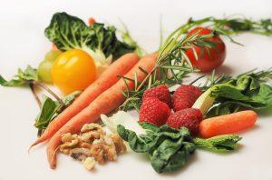 Vegetables bundled together to illustrate nutrition