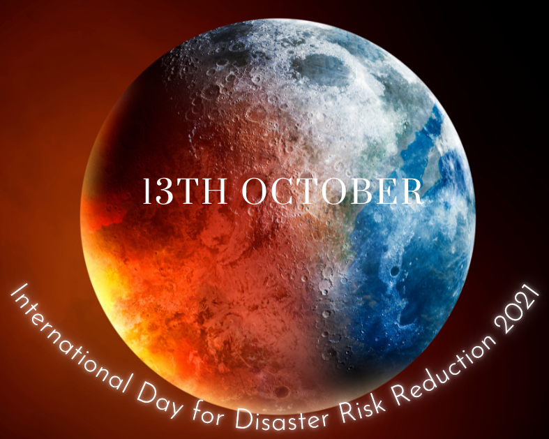 earth image with text of International Day for Disaster Risk Reduction